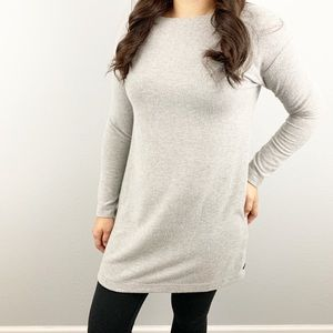 Obey pin-up sarra hacci dress in heather gray
